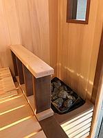 Сборная финская сауна в частном доме для ванной комнаты. Индивидуальное изготовление. Премиум дизайн. Размер = 1,85 х 1,24 х 2,1 м. Адрес: г.... 16