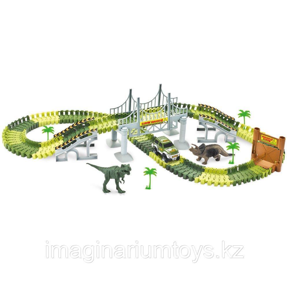 Большой детский автотрек с динозаврами