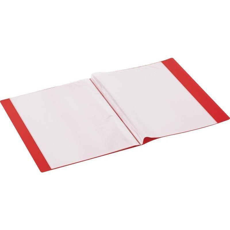 Папка файловая на 30 файлов  красная