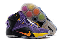Кроссовки Nike LeBron XII (12) Violet Black Gold Elite Series (40-46)