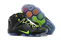 Кроссовки Nike LeBron XII (12) Black Green Elite Series (40-46), фото 1