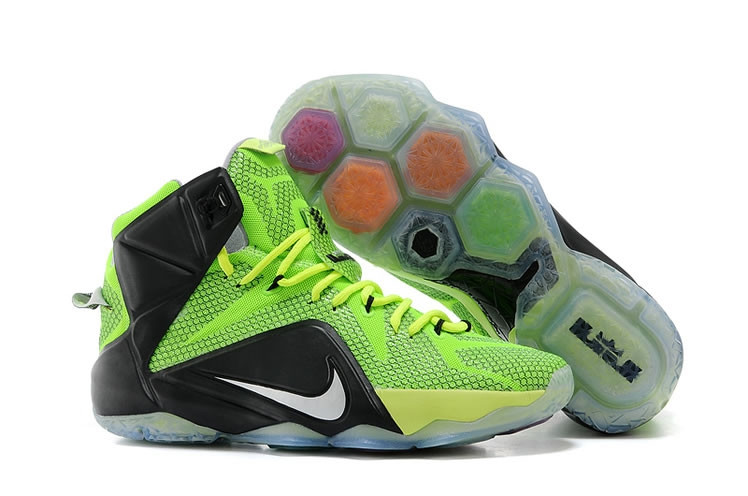 Кроссовки Nike LeBron XII (12) Lime Green Elite Series (40-46)