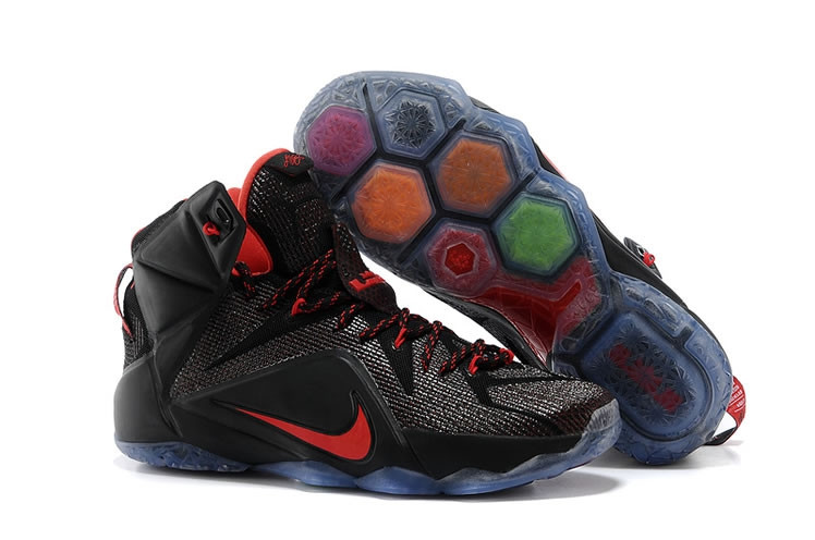 Кроссовки Nike LeBron XII (12) Black Red Elite Series (40-46)