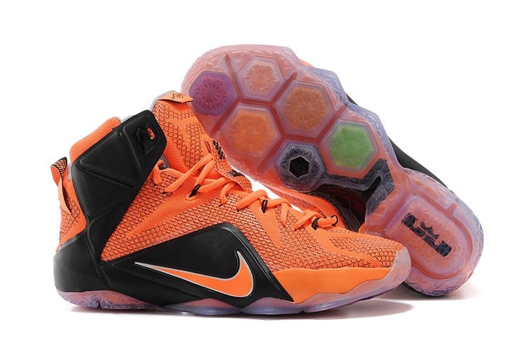 Кроссовки Nike LeBron XII (12) Black Orange Elite Series (40-46)