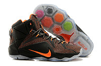 Кроссовки Nike LeBron XII (12) Dark gray Orange Elite Series (40-46), фото 1