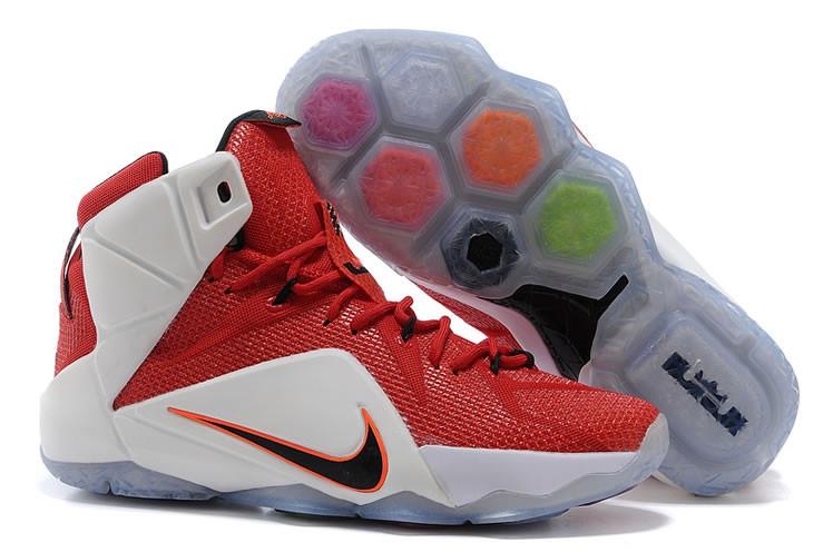 Кроссовки Nike LeBron XII (12) White Red Elite Series (37-46)