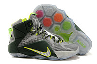 Кроссовки Nike LeBron XII (12) gray Green Elite Series (40-46), фото 1
