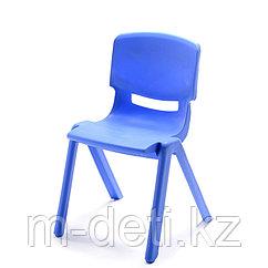 Стульчик детский пластиковый литой Радуга HD201 (синий) HUADONG