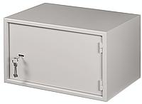 Настенный антивандальный шкаф с дверью на петлях NETLAN, 7U, Ш520хВ320хГ400мм, цвет серый