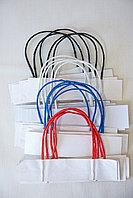 Шнурки для бумажных пакетов из крафта на бумажной полосе