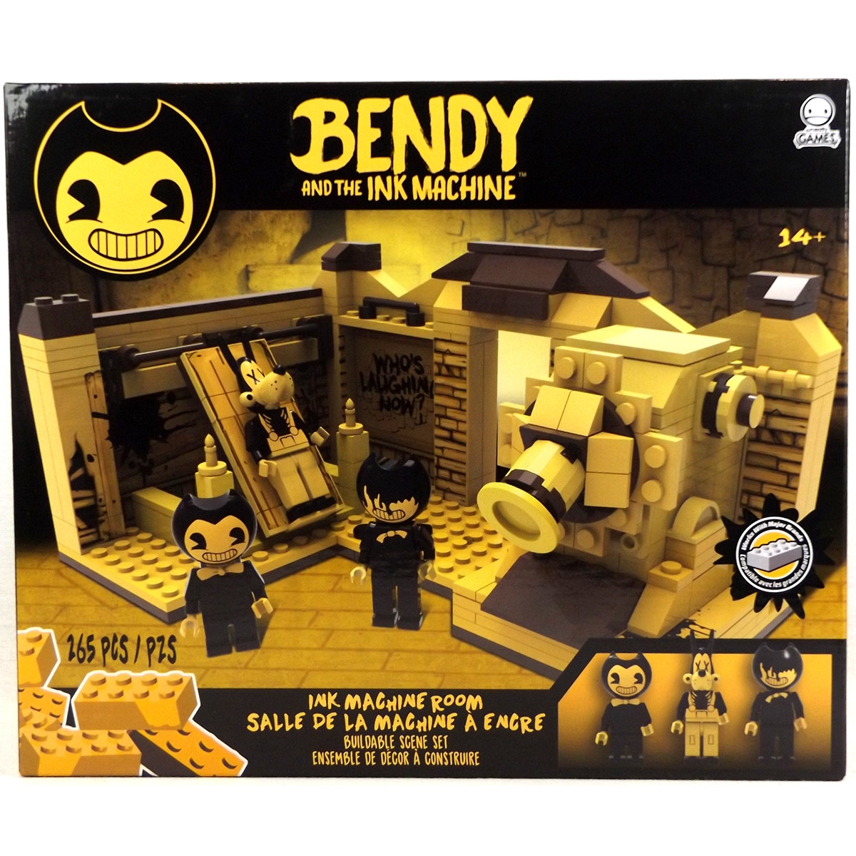"""Bendy """"Бенди и чернильная машина"""" Конструктор """"Комната с Чернильной машиной"""" 265 дет."""