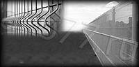 Сетчатые ограждения 3D (ширина 2,5 метра); Высота забора 1,5 метра; Диаметр проволоки 4 мм