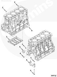 Блок цилиндров двигателя Cummins ISF 3.8L 5256400 5289698