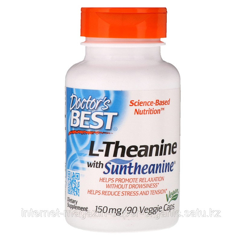 L-тианин Сантианин, 150 мг, 90 капсул (Suntheanine L-theanine), Doctor's Best