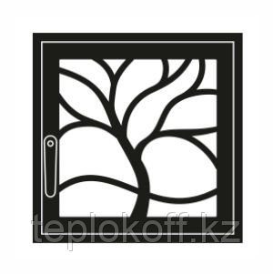 Дверца каминная ГрейВари Флора L, 526х508 мм