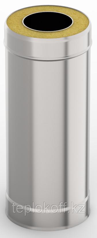 Сэндвич-труба 1,0м, ф 130х200 нерж/нерж 1,0мм/0,5мм, (К)
