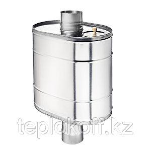 """Бак на трубе для печи 50 литров ф-140 мм AISI 439/0,8мм (штуцер 3/4"""")"""