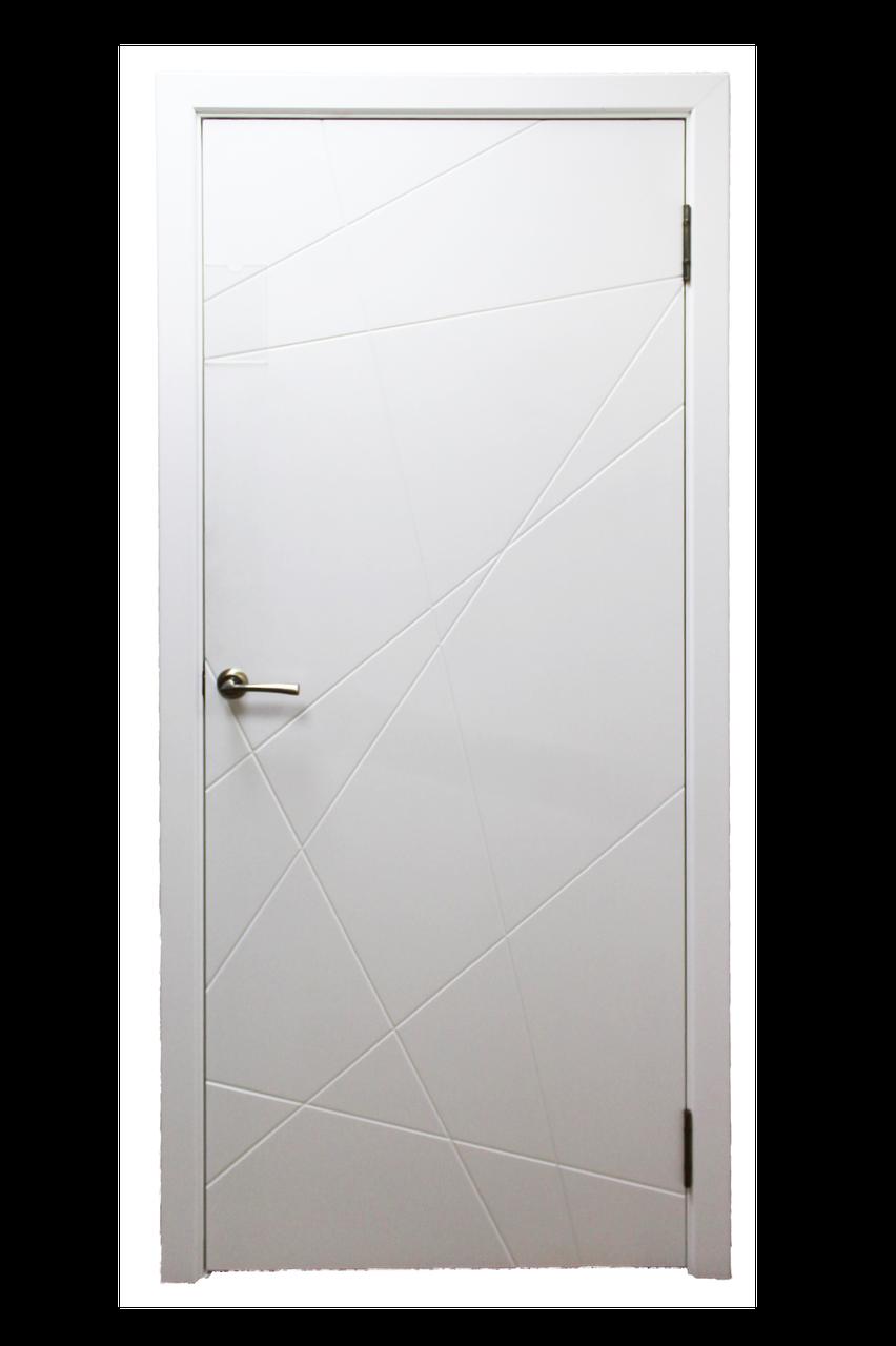 Межкомнатная дверь модельАбстракция эмаль