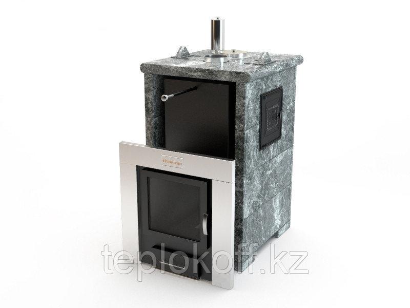 Печь для бани ИзиСтим Сочи М2 в трехстороннем кожухе из талькохлорита