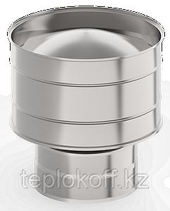 Оголовок с дефлектором, ф 140х200 нерж/оц, 0,5мм/0,5мм, (К)