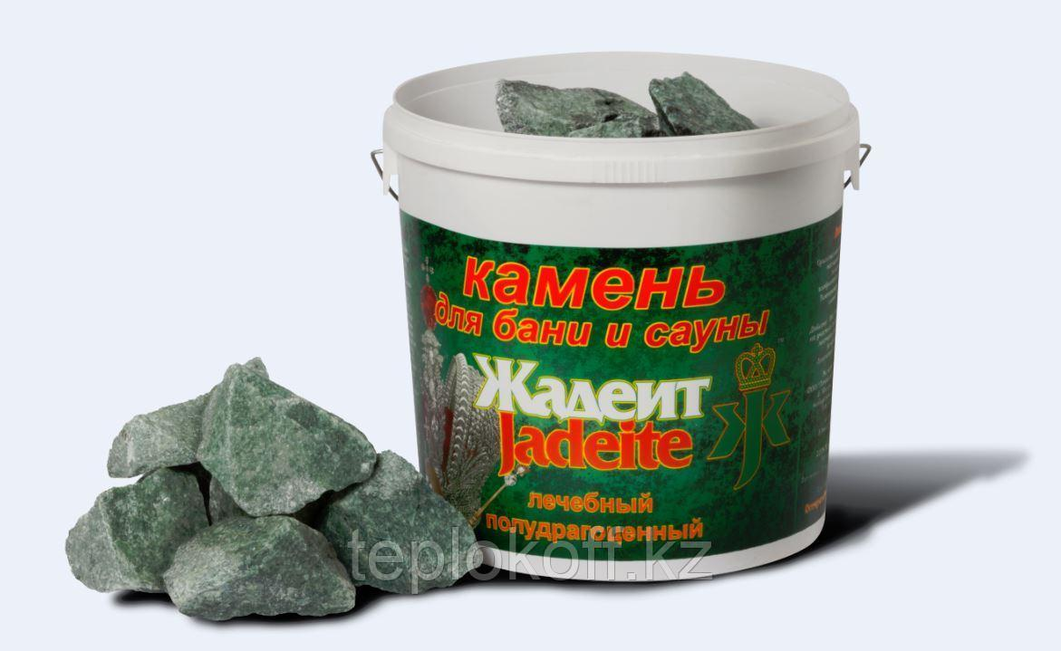 Камень для бани Жадеит колотый средний 10 кг Хакасия