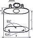 Бак Феррум Комфорт выносной, 60 л, нержавеющий (AISI 201/1,0 мм), вертикальный эллипс, фото 2