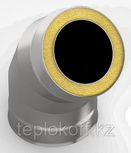 Сэндвич-отвод 135*, ф 140х200 нерж/оц, 0,5мм/0,5мм, (К)