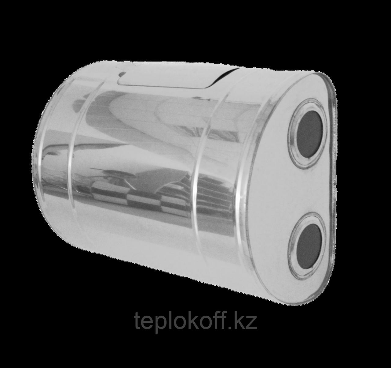 """Бак для теплообменника """"Тритон"""",  60л, AISI 439/1,0мм, Г/ЛЕВ, (штуцер 3/4"""")"""