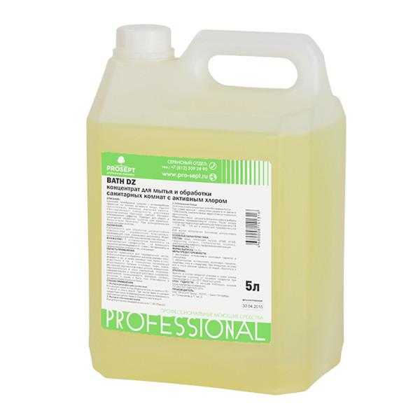 Средство для дезинфекции и мойки санитарных комнат гелеобразное  108-5 Bath DZ Концентрат (1:100),  5 л.