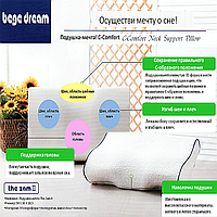 ПОДУШКА-МЕЧТА! (C-COMFORT NECK SUPPORT PILLOW) СЕТ - 2 штуки!