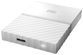 "Внешний HDD Western Digital 1Tb My Passport 2.5""  WDBBEX0010BWT-EEUE 2.5', USB 3.0  Цвет: Белый, фото 2"