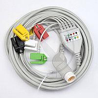 Кабель ЭКГ монитора Philips (5 отв., IEC, Snap) 023C5I, фото 1