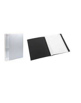 Папка пластик. Berlingo А4 с 40 вкладышами, корешок 25 мм, серый металлик