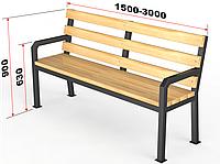 "Уличная скамейка со спинкой. ""Дача"", фото 1"