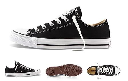 Кеды Cоnverse All Star Black/White черныe на белой подошве, фото 2
