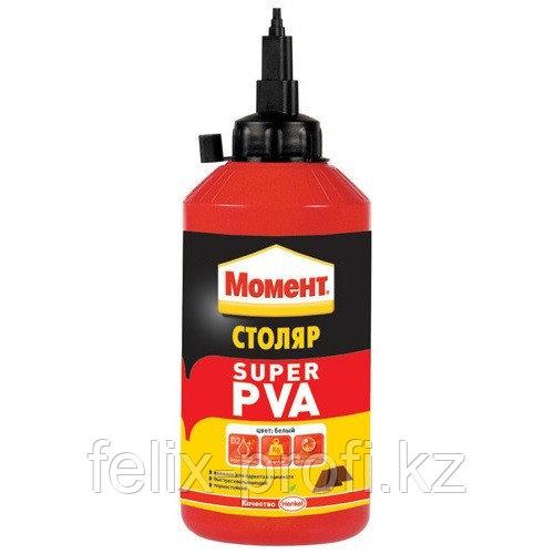 МОМЕНТ Столяр Super PVA клей для дерева ДСП, ДВП , МДФ, Ламината, 750г.