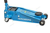 (NORDBERG) ДОМКРАТ N3203 подкатной 3 тонн 133-465мм с резиновой насадкой, быстрый подъем