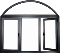 Радиусные алюминиевые окна