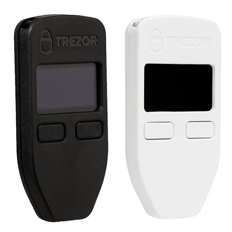 Аппаратный / холодный крипто - кошелек Trezor черный/белый