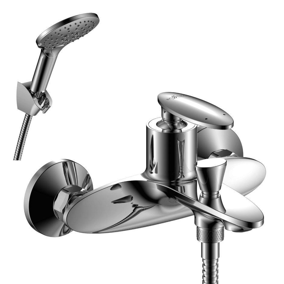 DR38036 Смеситель одноручный для ванны с коротким изливом, хром