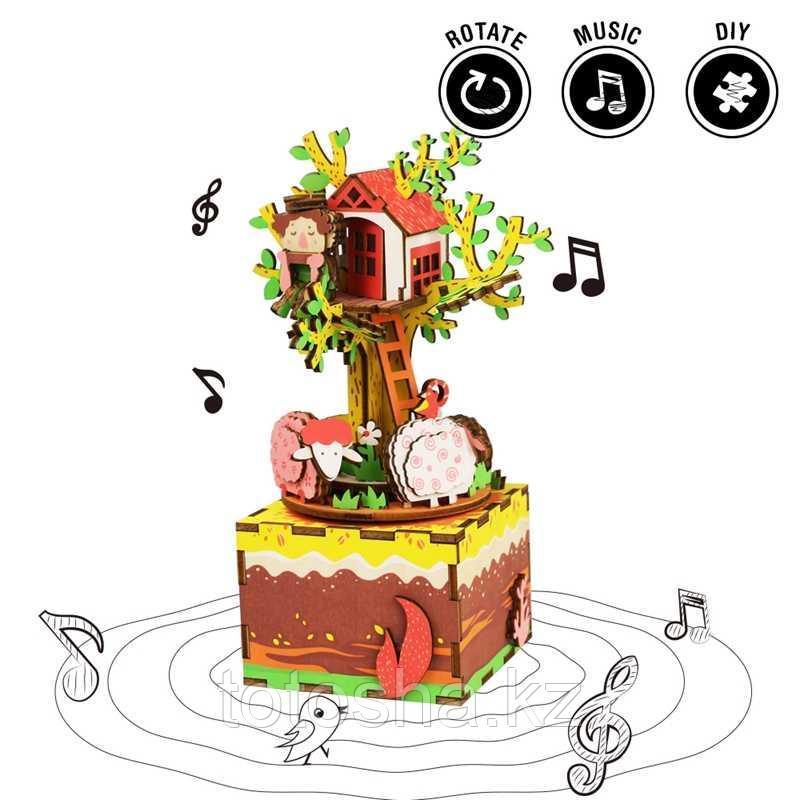 "Музыкальная шкатулка Robotime "" Tree House Домик на дереве """