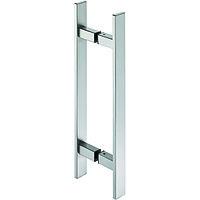 Ручка для вход двери нержавеющая сталь матовая, для толщины двери 37-54 мм, А= 600 мм, С=400 мм