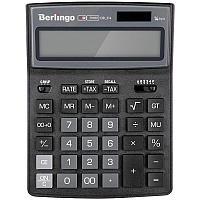 """Калькулятор настольный Berlingo """"City Style"""", 14 разр., двойное питание, 205*155*28, черный/серый"""
