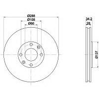 Тормозные диски Citroen C5 (01-..., передние), фото 1