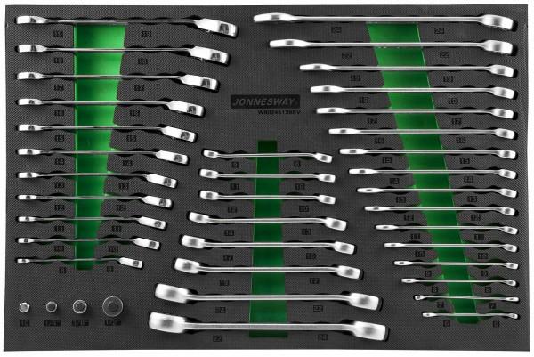 (W60246139SV) Набор ключей гаечных и адаптеров в EVA ложементе 560х400 мм, 39 предметов (W106246139S