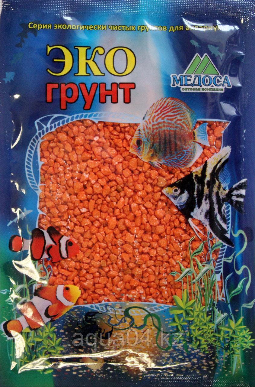Цветная мраморная крошка 2-5 мм ОРАНЖЕВАЯ (блестящая)