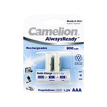 Аккумулятор Camelion AlwaysReady Rechargeable, NH-AAA900ARBP2, AAA, 1.2V, 900 mAh, 2 шт.