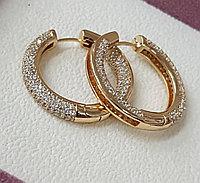 Серьги-кольца, титановые