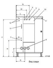 Промышленная стиральная машина Electrolux W4400H 45 кг, фото 2