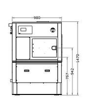 Промышленная стиральная машина Imesa D2W18 18 кг, фото 2
